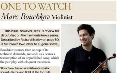 Marc Bouchkov on Gramophone Magazine